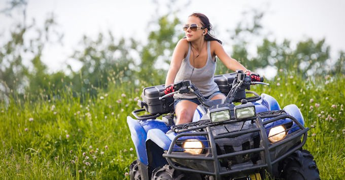 young lady on an ATV