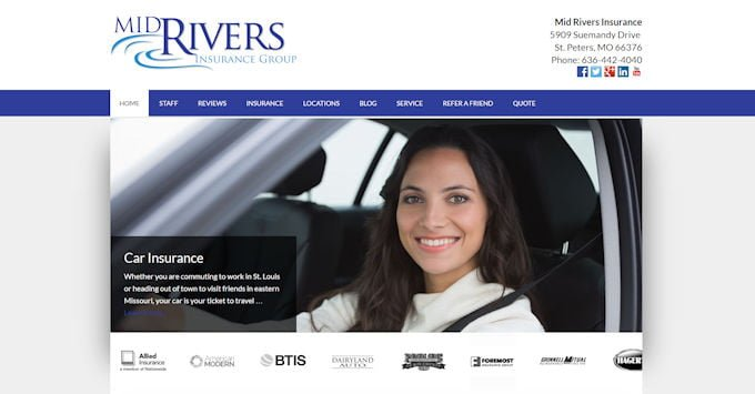 Mid Rivers Insurance Website